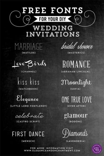 Mooie (gratis) lettertypes voor je uitnodiging!